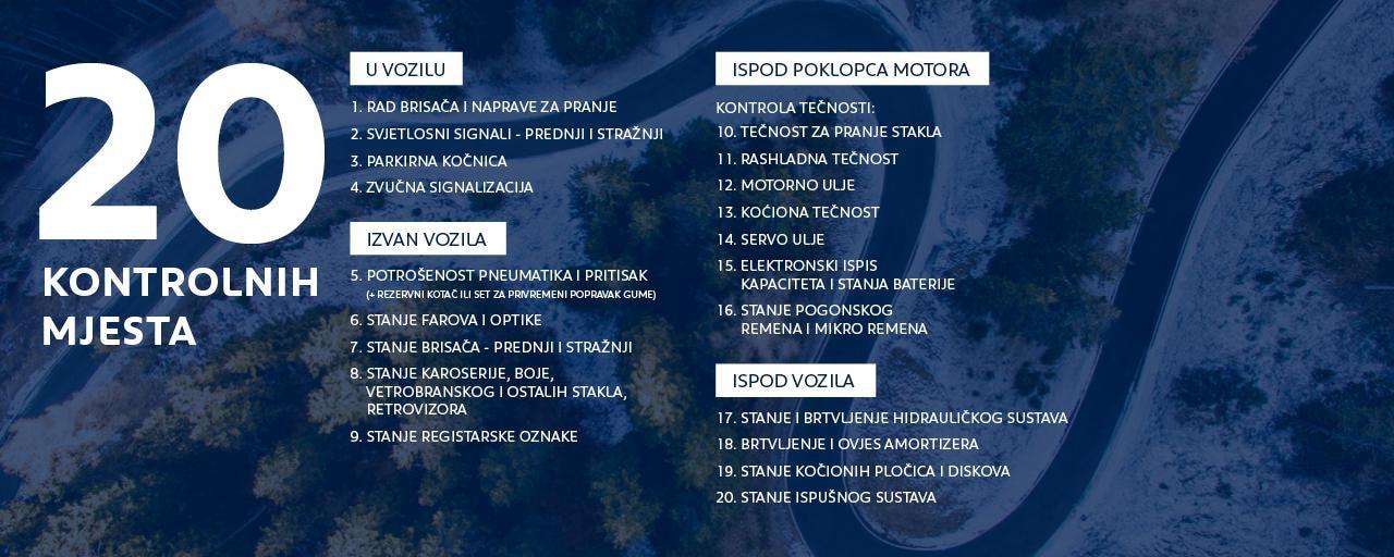 20 kontrolnih mjesta