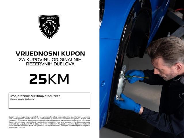 Peugeot vrijednostni kupon 25